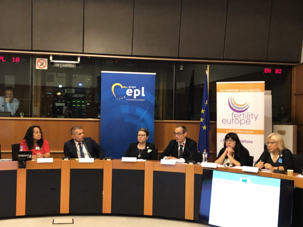 meeting about fertility education in EU Parliament